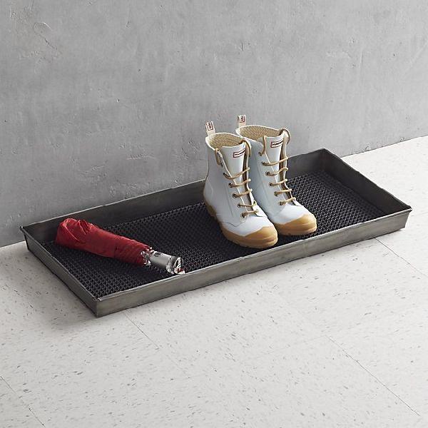 Metal Shoe Storage Boot Tray