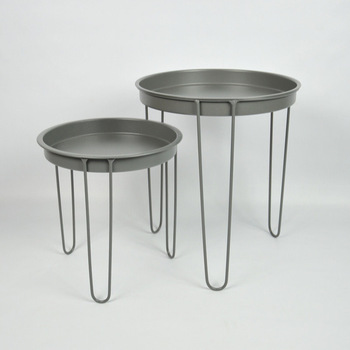 Metal Tray Wrought Iron Table Legs