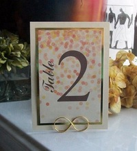 Metal Wire Table number holder