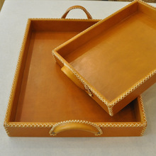 PU leather Serving Trays