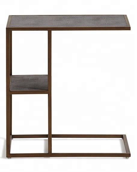 Rustic Finish Metal Side Tables