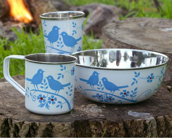 Stainless Steel Hand Painted Mugs