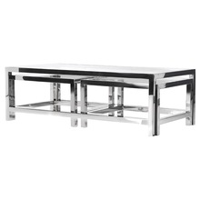 Stainless Steel Metal Coffee Table