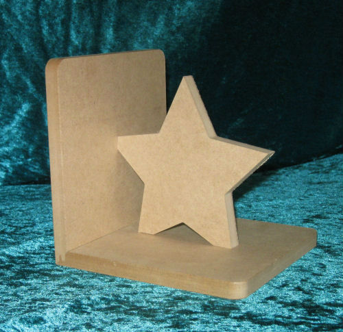 Star Wooden Bookends