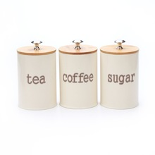 Tea Coffee Sugar Metal Storage box