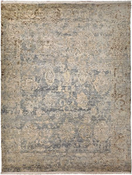 Indian hand knotted woolen carpet (519)