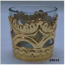 Brass and Glass Gold Votive