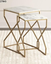 Brass Iron Marble Table