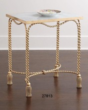 Brass AND Marble Top Side Tables