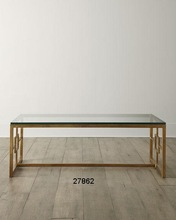 Brass Glass Top Coffee Table