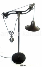 Brass Pulley Lamp