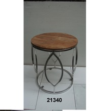 Center Steel Table With Marble Top