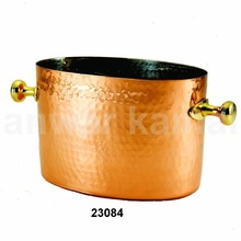 COPPER ICE BUCKETS WITH HANDLE