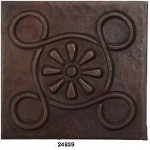 Copper Tiles Engraving