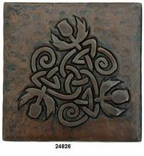 Engraving Copper Kitchen Tile