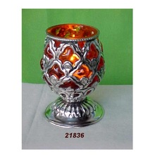 Glass AND Brass Goblet Votives