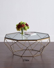 Glass Iron Glass Top Coffee Tables