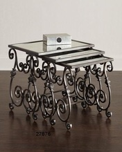 Glass Iron Table