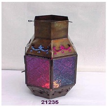 Glass Brass Lantern