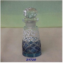 Glass Design Perfume Bottle with Lids