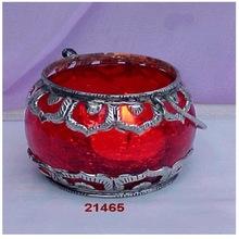 Haandi Glass AND Brass Votives