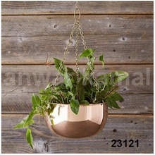 HANGING COPPER PLANTERS