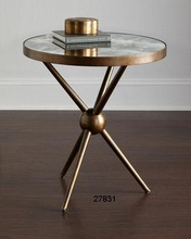 Iron Charly Mirrored Top Side Table