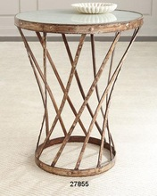 Iron Glass Coffee Side Table