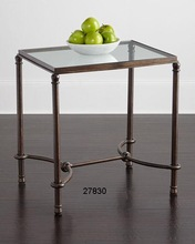 Iron Glass Top End Tables