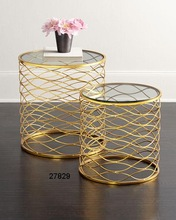 Iron Gold Plated Breslow Tables