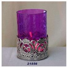 Large Purple Glass Votive