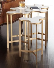 Marble Brass Side Tables