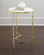 Marbler AND Brass Side Table