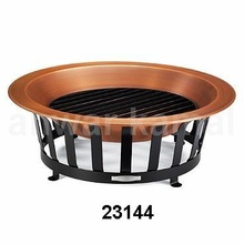 Outdoor Copper Finish Bowls Fire Pit
