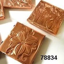 Square Copper Coasters
