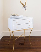 Wood Two Drawer Side Tables