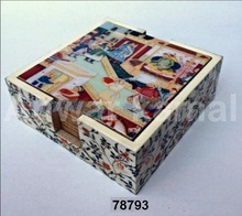 Wooden Coasters Sets Painted