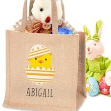 Christmas grocery shopping reusable high quality jute tote bag