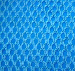 Blue Net Mesh Fabric