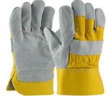 cotton leather working gloves