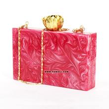 acrylic clutch box bag