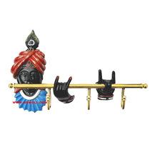 Artistic Krishna brass key hangers