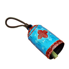 Blue red iron cow bells