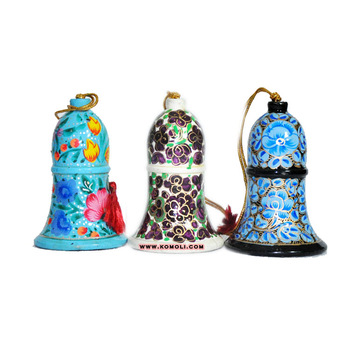 colorful wooden tree decoration bell