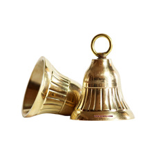 Die cast small metal brass prayer temple bell
