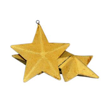 DIY Stars Paper mache decoration ornaments