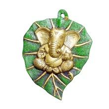 green leaf Ganesh statue