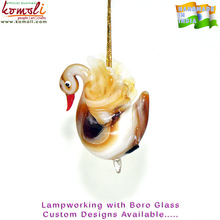 Handmade swan crystal glass bird