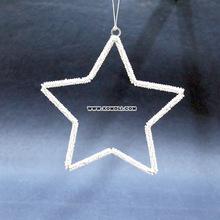 Handmade wire art Christmas large star