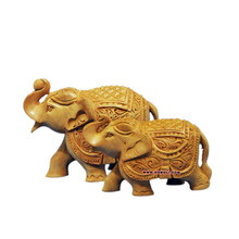 Indian wood carving elephant